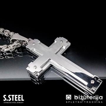 PRIEST II Moška verižica križ z obeskom 500 x 75 x 45 mm CO-223