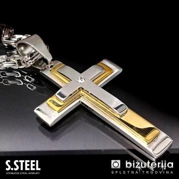 ANICET-GOLD Moška verižica križ z obeskom 500 x 60 x 40 mm CO-225
