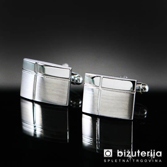 HUGO Srebrni manšetni gumbi M-100