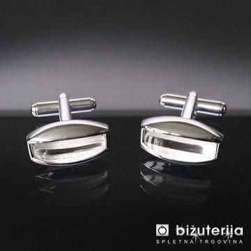 WHITE PEARL - Manšetni gumbi M-167