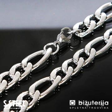 CHALLENGER Srebrna moška verižica iz nerjavečega jekla 10 x 600 mm O-104