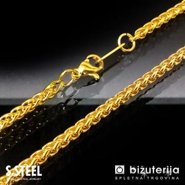 SCORPIO GOLD Moška zlata verižica iz kirurškega jekla 3 x 600 mm O-118