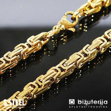 MIRAGE LONG Dolga zlata moška verižica kraljevi vez iz kirurškega jekla 5 x 700 mm O-605a