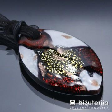 TYANNA GOLD - Murano obesek iz barvnega stekla OS-100