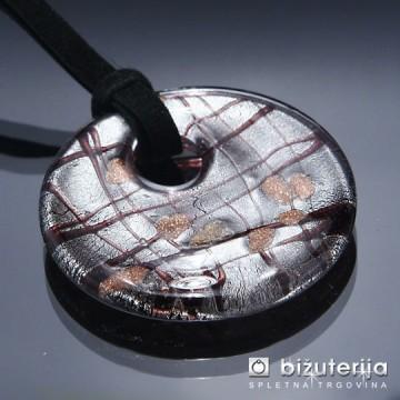DIANA BLACK - Murano obesek iz barvnega stekla OS-112