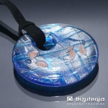 DIANA BLUE - Murano obesek iz barvnega stekla OS-113
