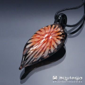 CRISTINA ORANGE - Murano obesek iz barvnega stekla OS-121
