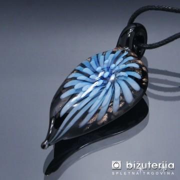CRISTINA BLUE - Murano obesek iz barvnega stekla OS-125